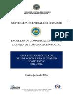 Guia de Estudios de La Carrera de Comunicacion Social 2016-2016