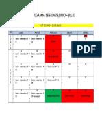 Cronograma Sesiones Junio