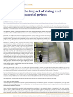 Impact of Rising and Volatile Raw Material Prices
