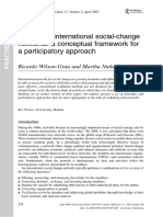 Evaluating International Social Change Networks Ricardo Wilson Grau and Martha Nu1