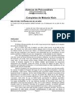 Klein- Relato de Psicoanálisis de Un Niño1