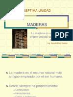 Septima Unidad - Maderas