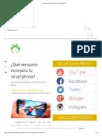 ¿Qué Sensores Incorpora Tu Smartphone