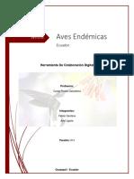 Aves Endemicas Del Ecuador