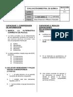Examen Bimestral 2 - Saco Oliveros - 1to Año - Julio 2016