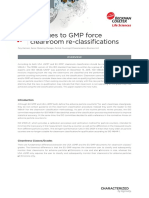 Changes to GMP force cleanroom re-classifications