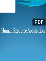 Human Resources Acquisition