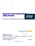Shared Information Data (SID) Model