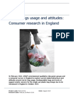 Carrier Bags Usage and Attitudes Consumer Research in England