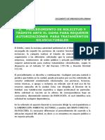 Procedimiento de Solicitud y Tramite Ante El Dama Para Requerir Autorizaciones Para Tratamientos Silviculturales