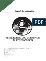 Orígenes de los Municipios
