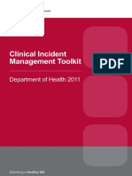 Clinical Incident Mangement Toolkit