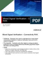 Model Connectivity RAK Presentation