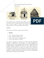 The Temple Architecture Styles in India