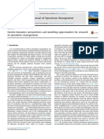 System Dynamics Perspectives and Modeling Opportunities for Research in Operations Management