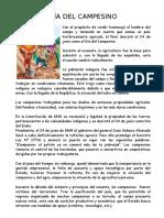 Ficha de Comprensión lectora del Día del Campesino