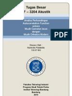 Analisa Perbandingan Autocorrelation Function antara Musik Gamelan Jawa dengan Musik Orkestra Modern