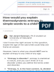 How Would You Explain Thermodynamic Entropy in Simple Words to a Child - Quora