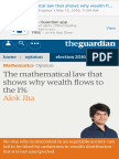 The Mathematical Law That Shows Why Wealth Flows to the 1% Alok Jha Opinion the Guardian