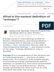 What is the Easiest Definition of 'Entropy' - Quora
