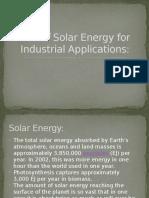 Solar Energy- P1