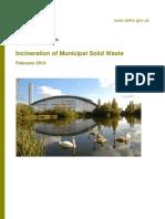 Incineration of Municipal Waste