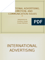 International Advertisement, Promotions, And Communication