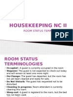 HOUSEKEEPING NC II Terms and Making Up Procedures