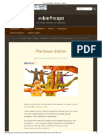 The Seven Elohim - Eden Saga - English