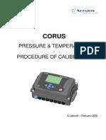Procedimiento Calibración Presión y Temperatura Corus