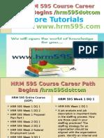 HRM 595 Course Career Path Begins Hrm595dotcom