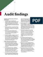 Australian Infrastructure Audit Key Findings