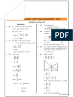 NSTSE Class 10 Solutions 2015