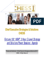 CHief Executive Strategies and Solutions (CHESS) - 3 Hour C-Level / C-Suite Strategy and Solutions Power Consulting Session Agenda and Solution Crafting Methodology for Complex Projects