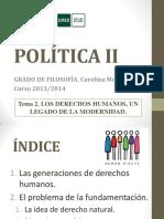 Política II. Tema2. 2013-14