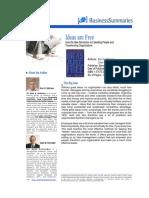 Ideas Are Free Alan G Robinson Dean M Schroeder Business Summary
