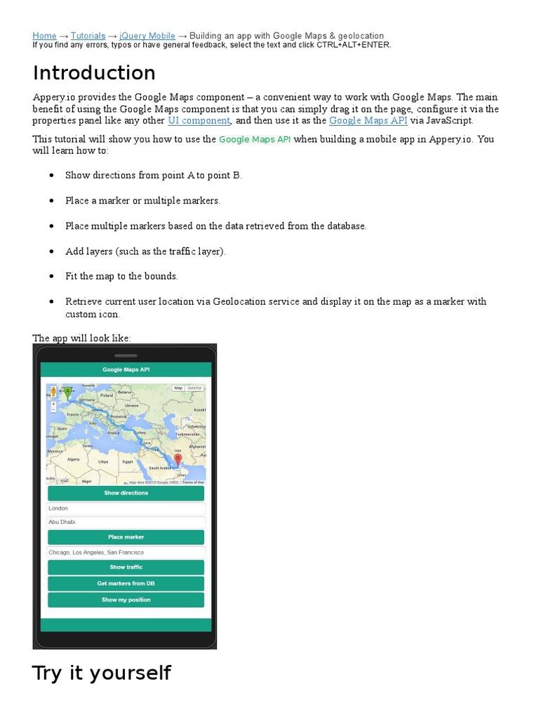 Google Map | Mobile App | Google