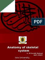 Anatomy of Skeletal System by Dr. Farrukh