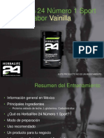 Entrenamiento f1 Sport Vainilla
