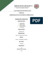 UNIDAD II. Administracion en Entornod Turbulentos. Manejo de Conflictos Grupo 5