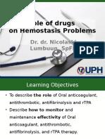 Hemostasis & Drugs Intervension 2015