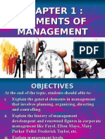 CHAPTER 1 elements of management