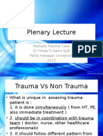 Plenary Lecture-Multiple Trauma 8Okt2015