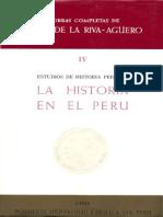 Estudi0s de Historia Peruana La Historia en El Peru
