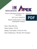 Bio Drosophilia Mini Project 2 1