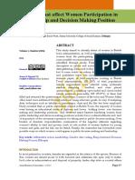 Factors that affect Women Participation in.pdf