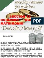 Leccion 12 Cuidando Nuestro Matrimonio