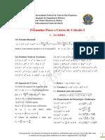 Fórmulas Para o Curso de Cálculo