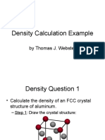 Density Calculation Example