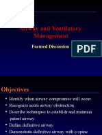Airway and Ventilatory Discussion